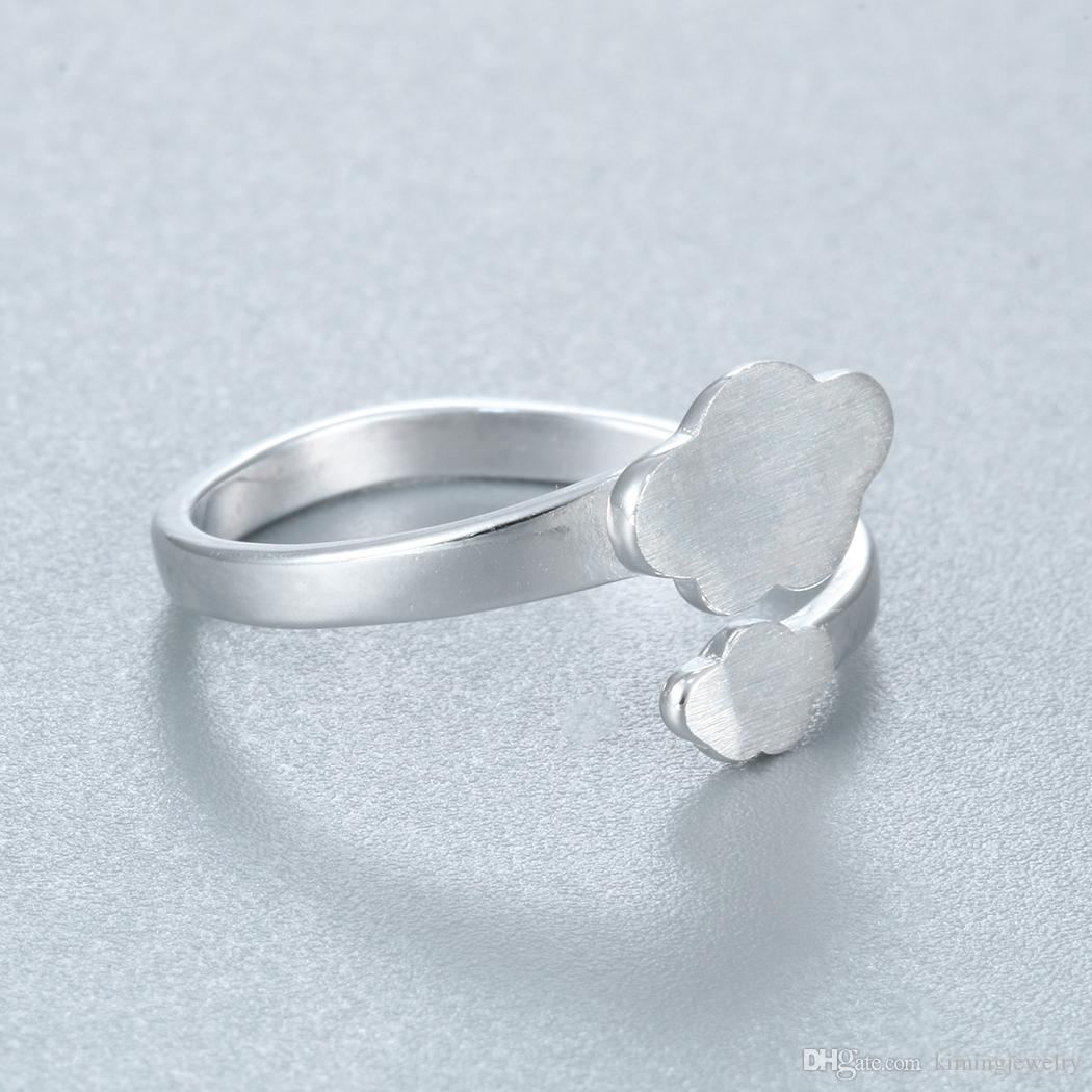 Hot Charm Real Pure 925 Sterling Silver Cloud Rings for Women High Quality Adjust Free Size Girls Gift Anillo de plata