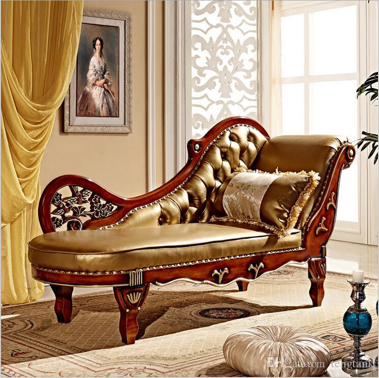 Hot Sale Sofa French Design genuine leather Couches living room furniture  Sofa Real leather chaise lounge 10268