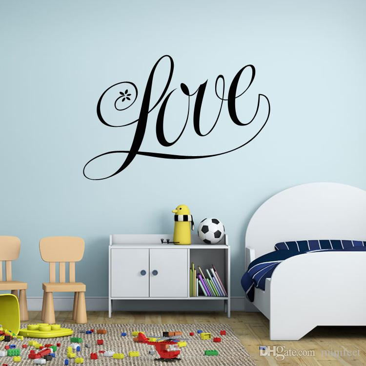 Valentine's day wall stickers love style sitting room adornment bedroom wallpaper waterproof PVC Can remove stickers