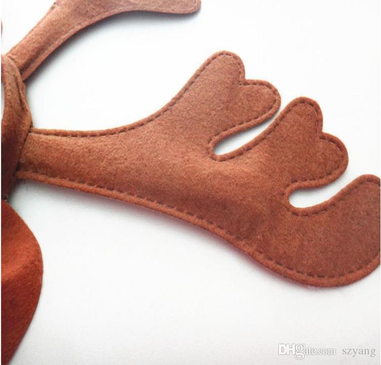 100 sztuk / partia Słodki Brązowy Jeleń Nakrycia głowy z Ear Santa Reindeer Style Hairband Pret strony rekwizyty
