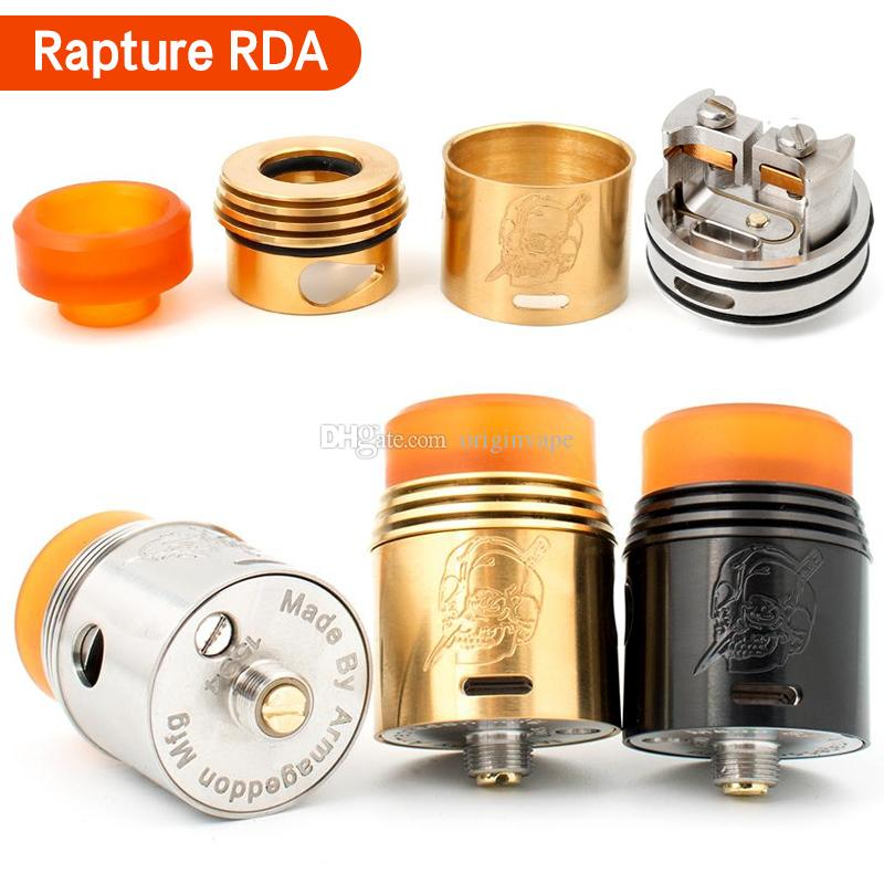 Newest Rapture RDA Atomizer Rebuildable Dripping Atomizers Peek Insulator Adjustable Airflow Control DHL