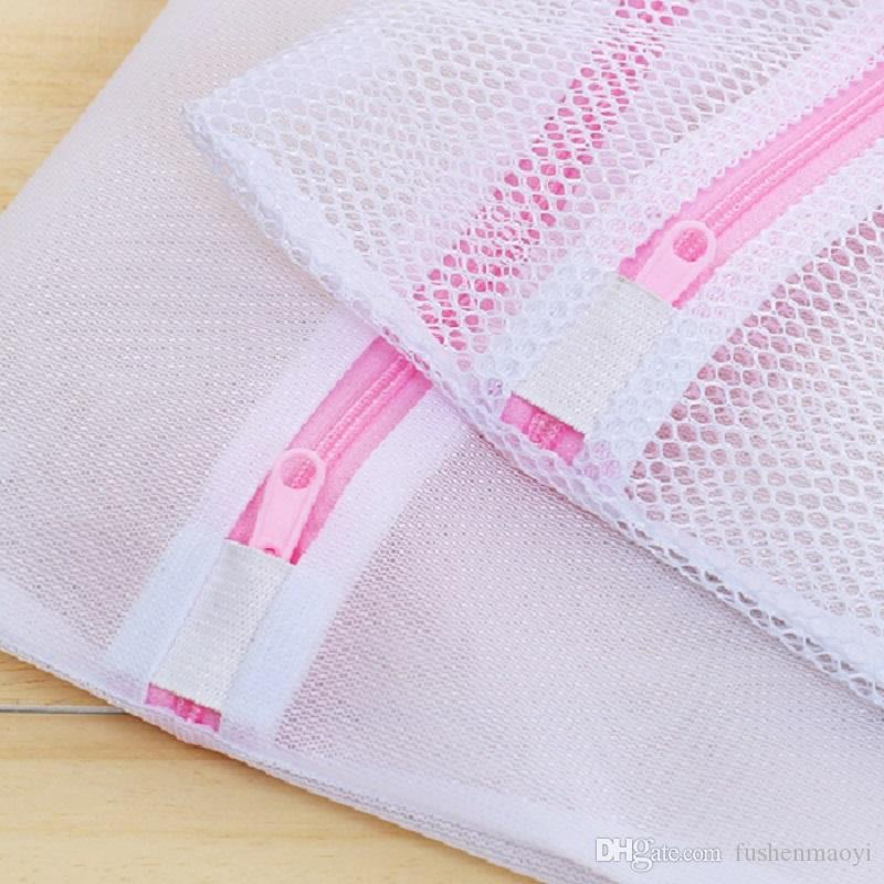 Mesh Laundry Wash Bags 3 Pack Large, Medium, Small Zippered Washing Machine Bags for Lingerie, Delicates and Bras