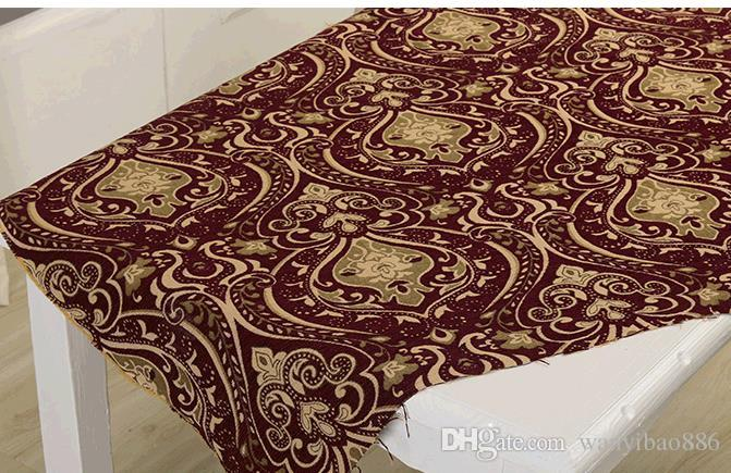 More high-end European hold pillow jacquard chenille fabric sofa cushion for leaning on of eat chair antependium fabric DIY