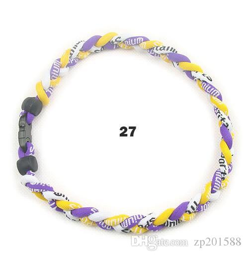 New Titanium Geflochtene 3 Seile Tornado Gesunde Halsketten Anhänger Schmuck Für SPORT Fußball Baseball Valentinstag Geschenk Bijoux Zubehör