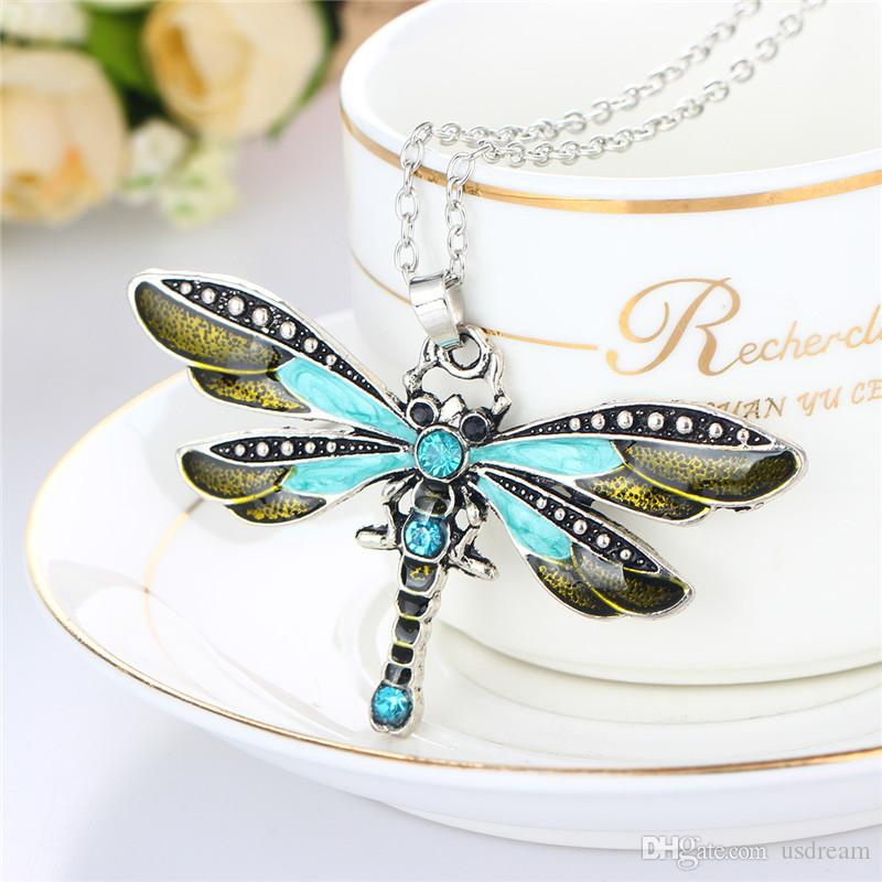 Monili di modo del modello animale della catena del pendente della farfalla dell'anello della collana della farfalla del nuovo cristallo del rhinestone le donne 162493