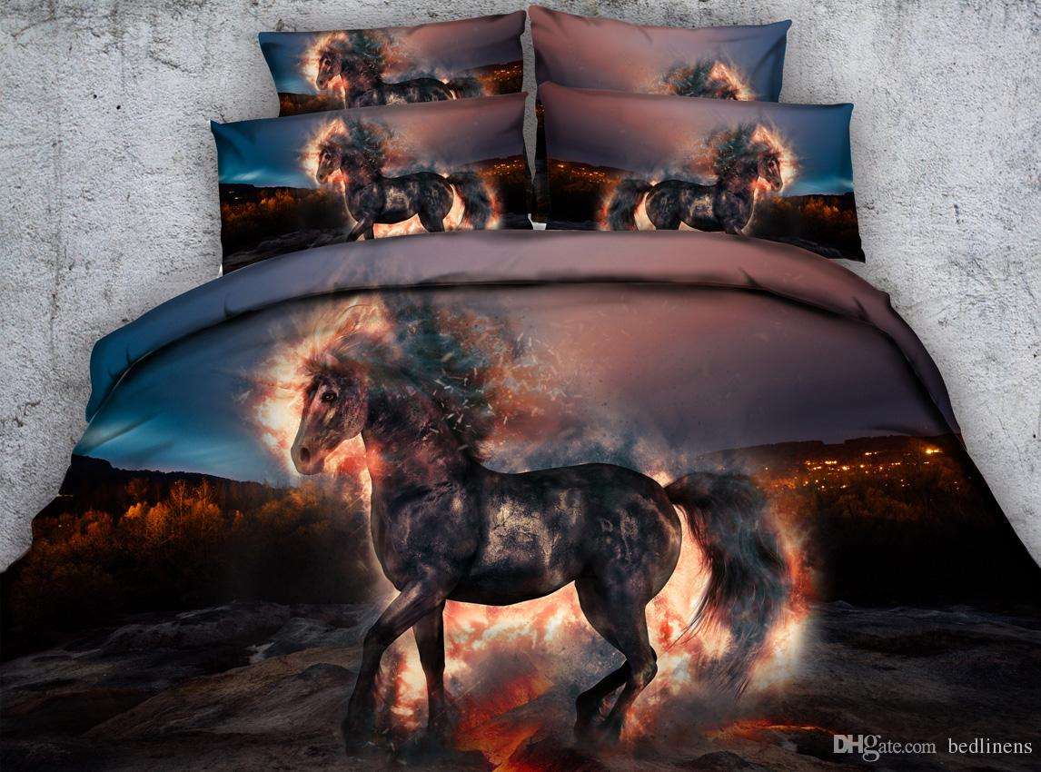 Galaxy Hellfire Horse 3d Printed Bedding Sets Twin Full