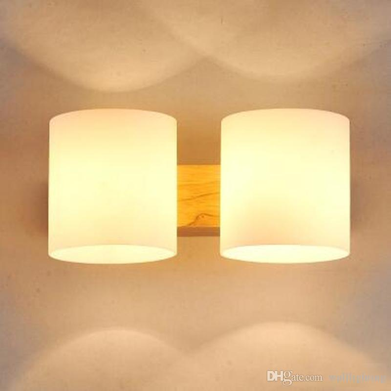 2019 Modern Wooden Wall Lamp Lights For Bedroom Home Lighting Wall