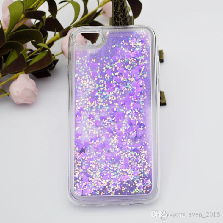 100 stücke schwimmende glitter fällen für iphone x zehn 6 plus herz quicksand flüssigkeit für samsung on5 g5 k7 k10