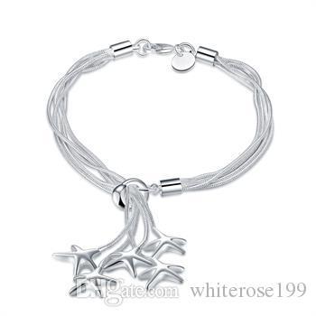 Vente en gros - Prix de détail le plus bas prix de Noël, livraison gratuite, nouveau bracelet de mode en argent 925 yB099