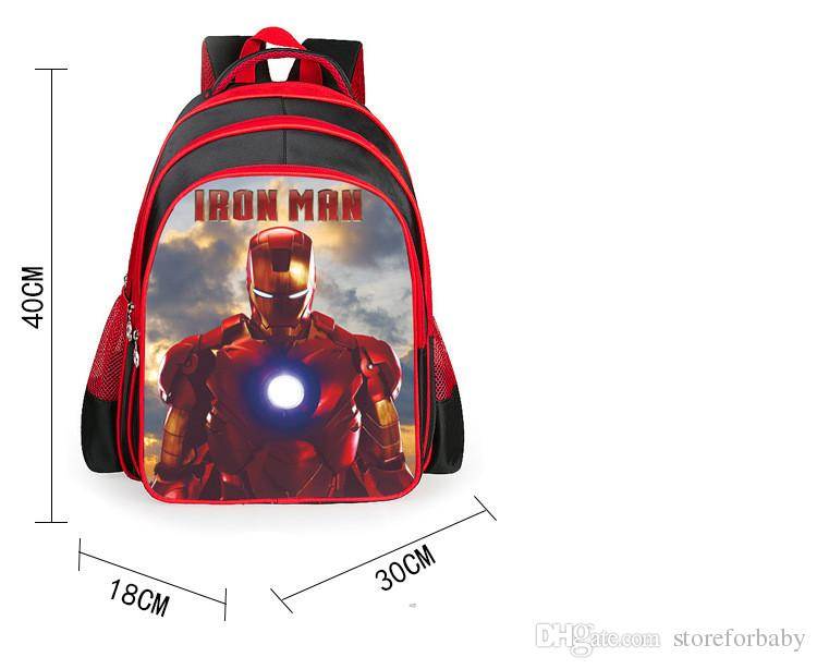 Ironman and name or on backpack for kids,Personalized,machine embroidered perfect for sports,school,summer camp cartoons gifts for boys