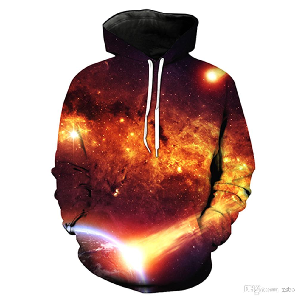 Fashion hoodies for men 3D Universe / Galaxy / Starry sky hoodies Sweatshirts long sleeve Pullovers S-6XL casual tracksuit men LMS02 RF