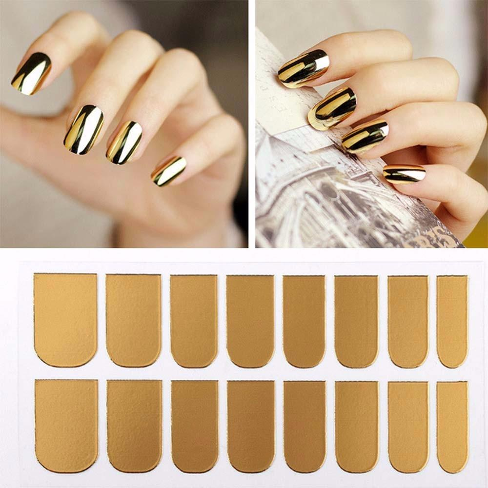 New Arrival Nail Art Stickers Gold Silver Black Full Cover Nail Foil ...
