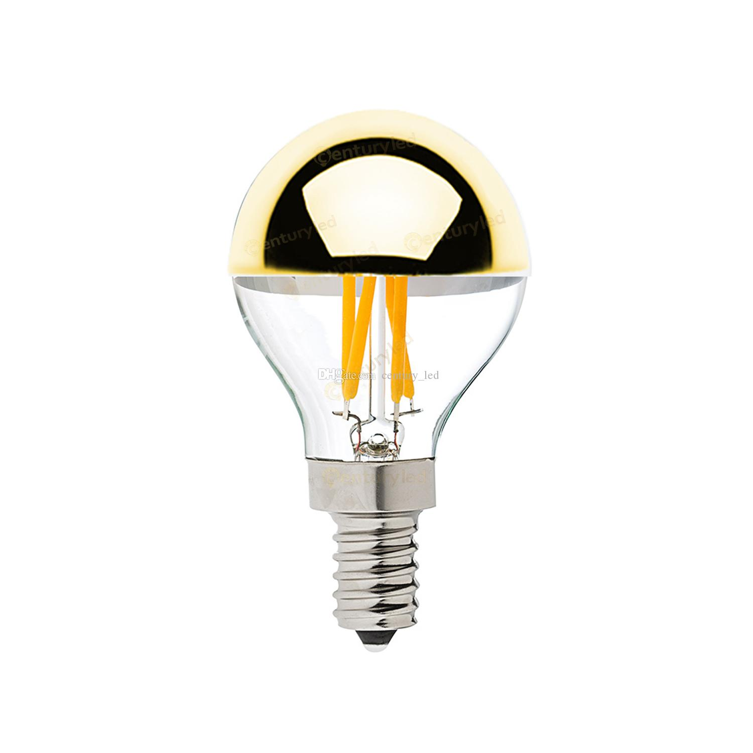 best gold mirrorg45 globe led filament bulbe12 e14 standard basewarm household gu10 led bulbs g9 led bulb