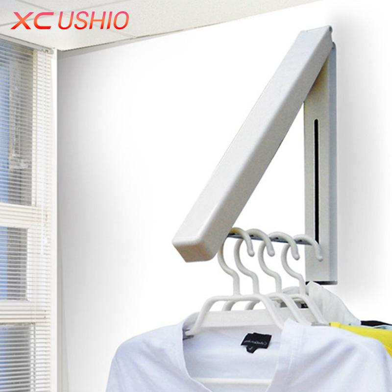 2017 Stainless Steel Wall Hanger Retractable Indoor Clothes Hanger Magic  Foldable Drying Rack Waterproof Clothes Towel Rack From Super05, $7.93 |  Dhgate.Com