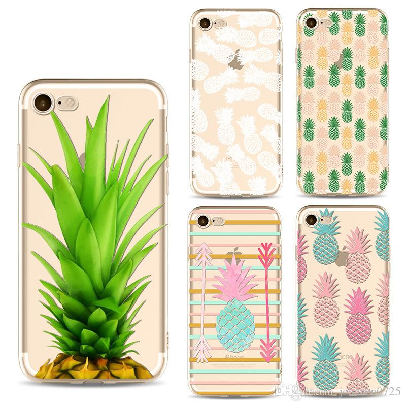 the best attitude 6a506 a467d Soft TPU Pineapple Painted Phone case For iphone X 6 6S 7 8 plus 5S Samsung  Galaxy S7 S8 S9 Plus Note 8 Ultrathin Silicone Back phone cover