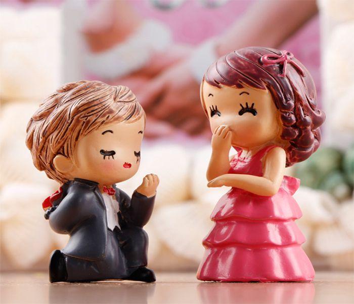 CCDE Desk Decoration Mini Couples Doll Mini Lovers Model Mini Doll Lovers Cute