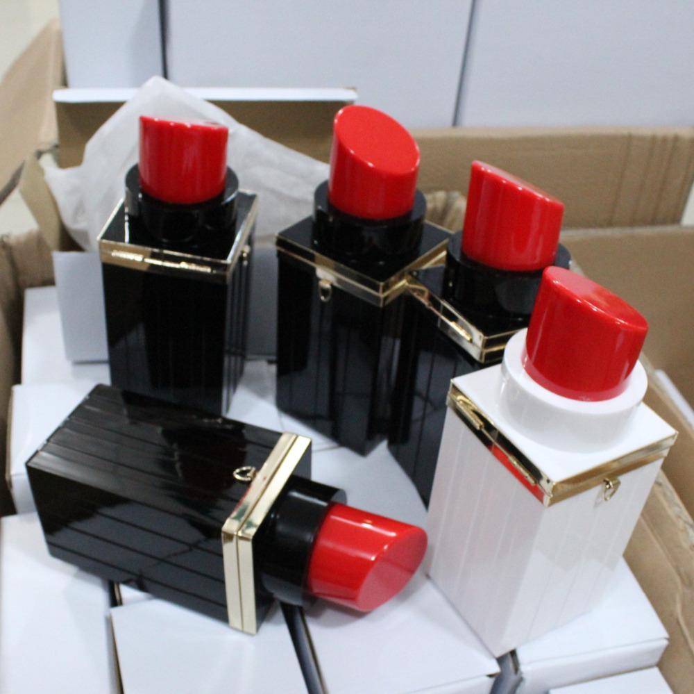 Frauen Vintage Datum lässig Kupplung sexy Mund schwarz Lippenstift Taschen kleine Kette Abendtasche Kupplung Partei Tasche Bolsa Handtaschen