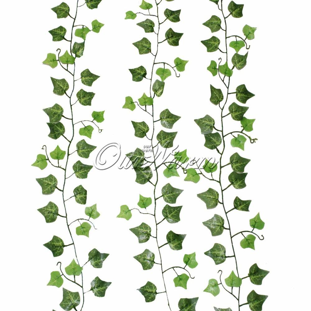 Discount wholesale fake vines hanging for wedding green leaves silk discount wholesale fake vines hanging for wedding green leaves silk flower vines artificial plants and flowers for home christmas decoration from china mightylinksfo