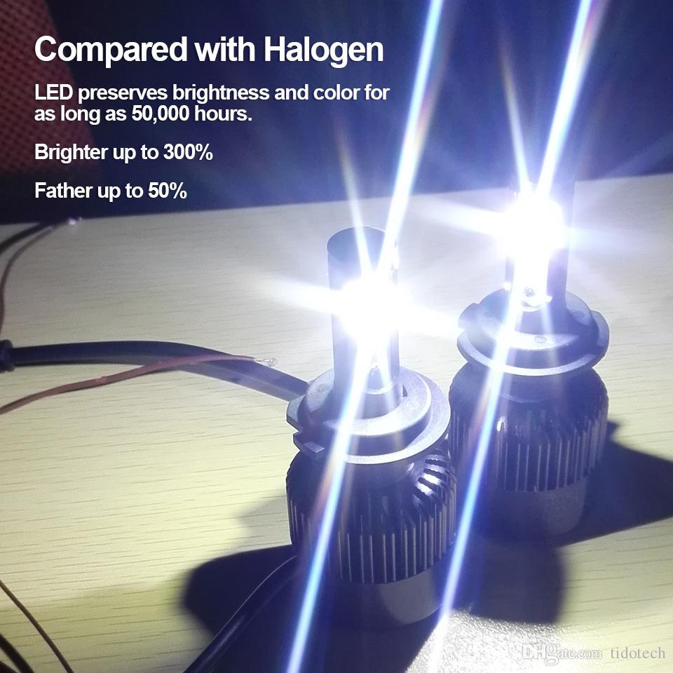 Todo en uno 1 Conjunto 60W 7200LM LED Bombillas para faros H7 Auto Faro 6000k Kit de conversión XF para Coches DC 8V-48V