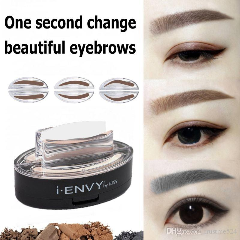New Arrivals Brand Eyebrow Stamp Lazy Quick Makeup Powder PK Pencil Cream DHL Drop Shipping Stencil How To Grow Your Eyebrows