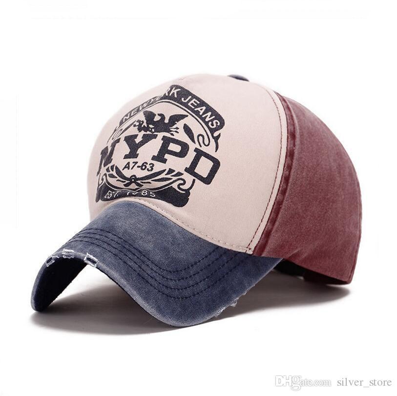 Bon A ++ Printemps et en été nouvelle casquette de baseball hommes et femmes hotte en coton enduit NYPD chapeau extérieur SMB050