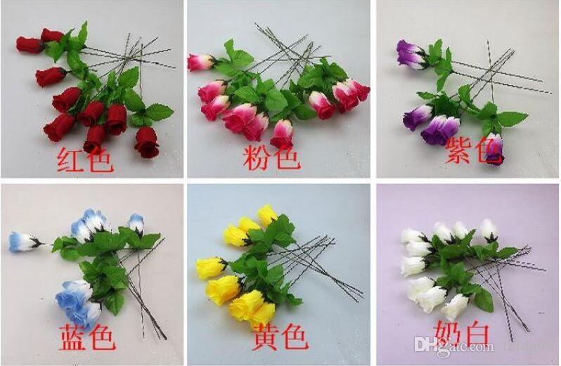 Fabryka hurtownie jedwabny kwiat symulacja kwiat sztuczny pączek pojedyncze róże mała gałąź znak rzędowy mały pojedynczy róży pączek