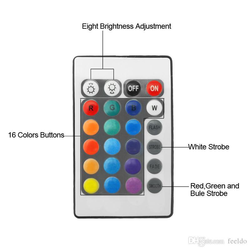 FEELDO Auto RGB LED Angel Eyes Halo-Ring-Beleuchtungssatz Fernbedienung für BMW E36 / E38 / E39 / E46 Projektor # 4242