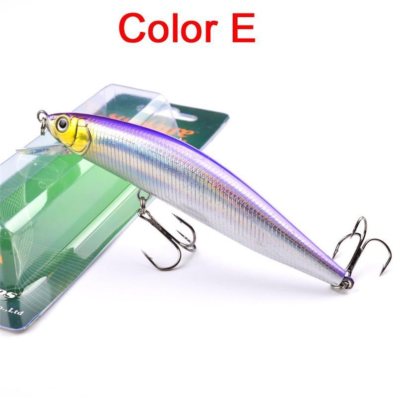 Новый 3D Большой Морской гольян искусственные рыболовные приманки 6 цветов 24 г 13.5 см 2 # крючки прозрачный лазер приманки глубина погружения 1.5-3.5 м