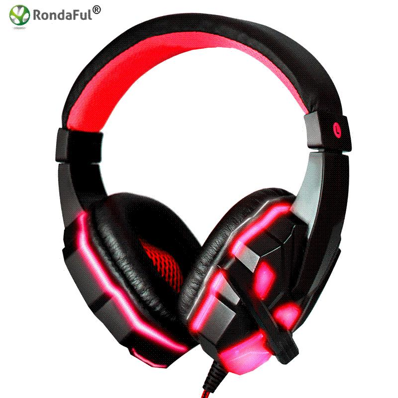 Acquista Hot Stereo Surround Gaming Headset 3.5mm Wired Cuffie Con  Microfono PC Computer Gamer Over Ear LED USB Luminoso A  23.2 Dal  Paipaiwang  0a04949200f0