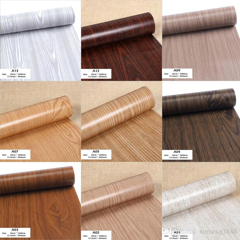 contact paper on furniture. Wood Grain Wrap Contact Paper Film Sticker For Home Office Furniture Diy No Mess Easy To Install Self Adhesive Decor 45cm*1000cm Stickers On Wall