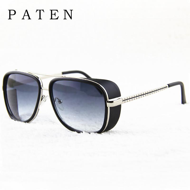 19e9530a638 Wholesale Steampunk Iron Man 3 Matsuda Tony Sunglasses Men Mirrored Designer  Lasses Luxury Vintage Male Sun Glasses Red Oculos 5643 Designer Eyeglasses  ...