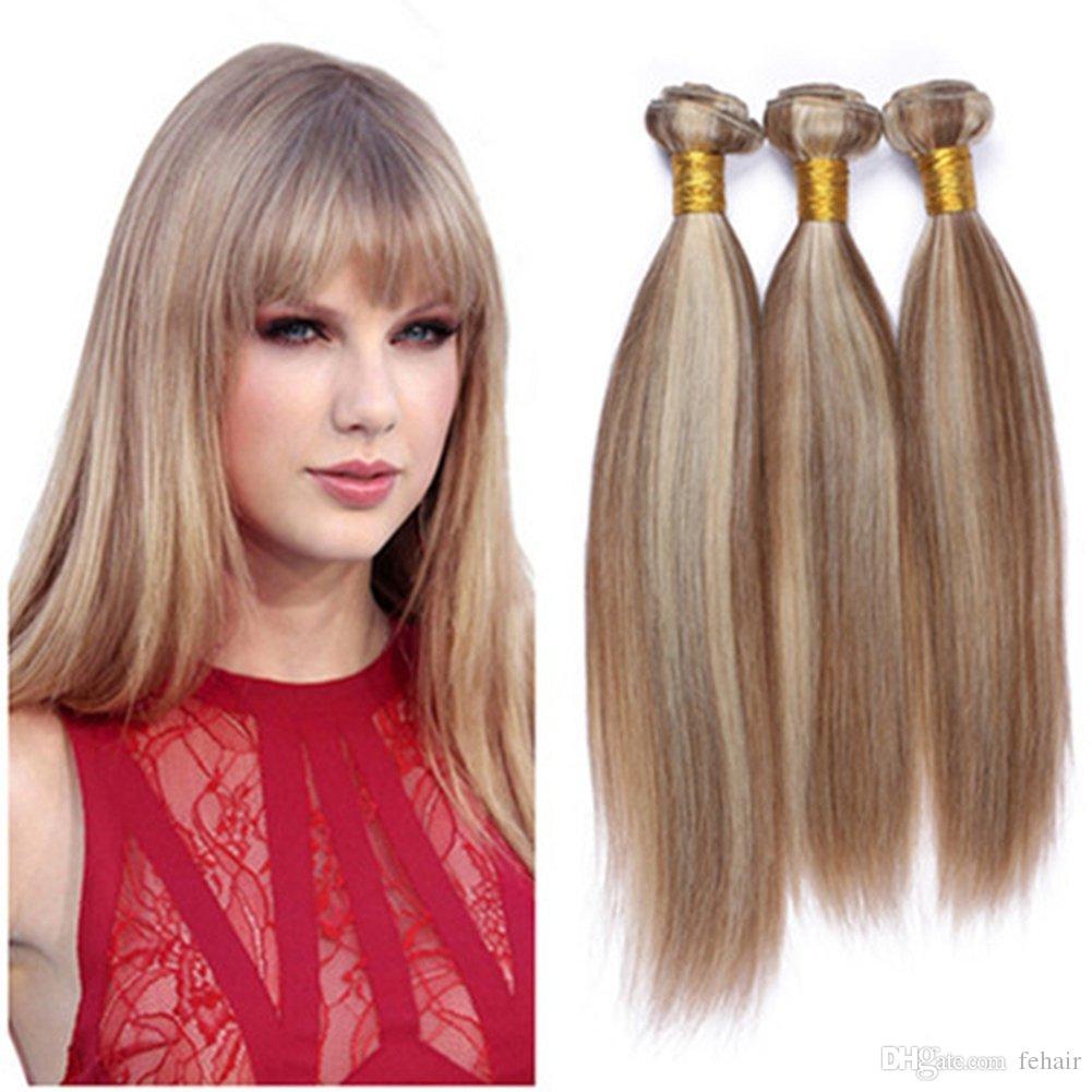 Piano 8613 Mixed Color Human Hair Weaves Silky Straight Brazilian