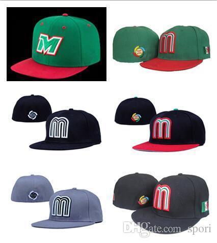 Großhandel Neue Verkauf Green Mexico Baseball Cap Stickerei Team