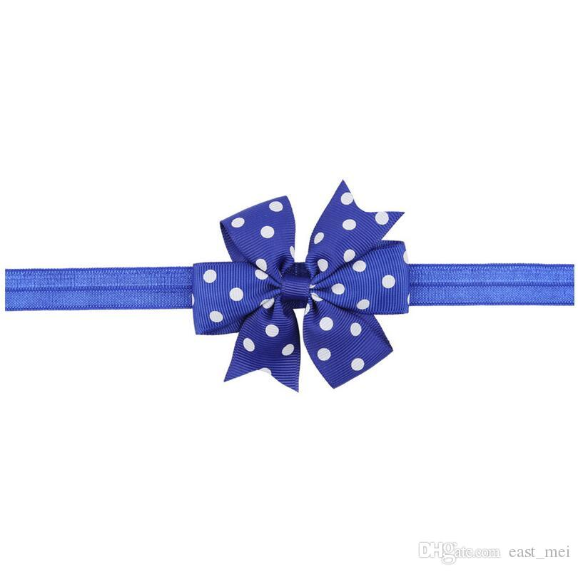 Hot sale Children wave point swallowtail bow knot with baby elastic headband baby hair ornaments TG087 a