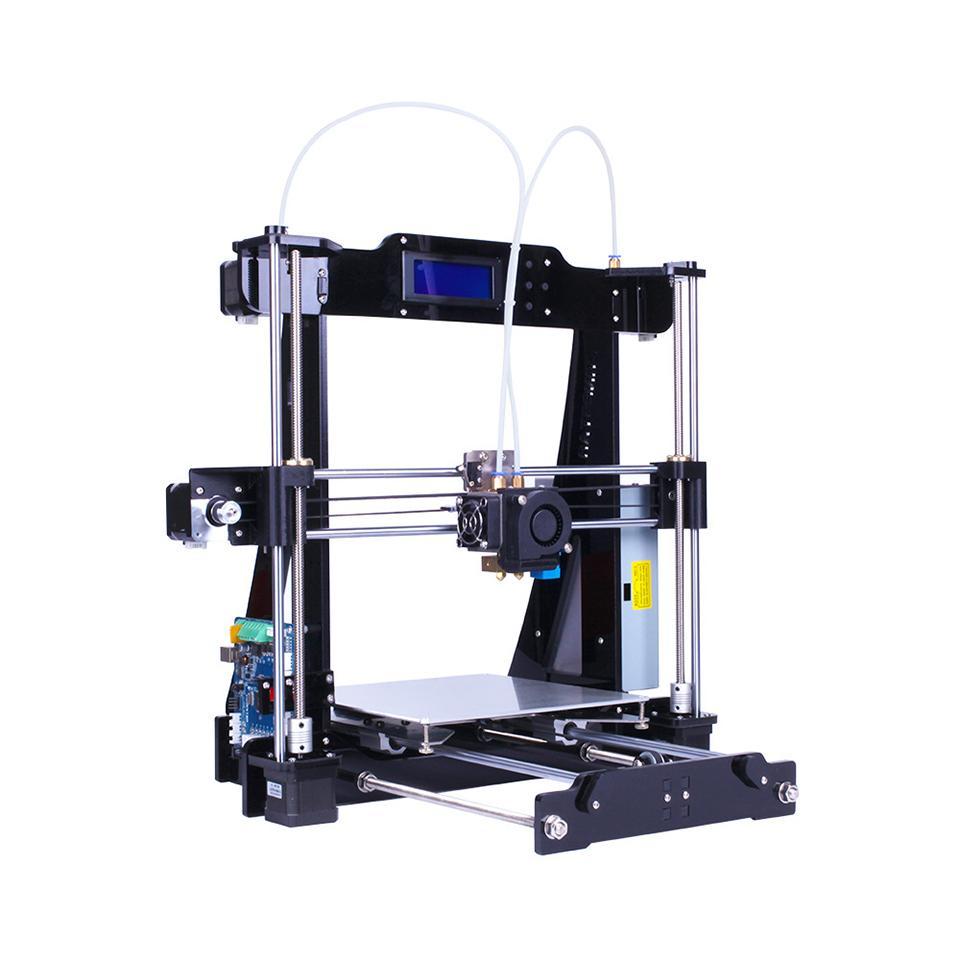 3D طابعة مزدوجة الطارد اثنين من لون السيارات الإستواء Reprap Prusa I3 طابعة 3D DIY كيت ZONESTAR P802N أو P802NR2