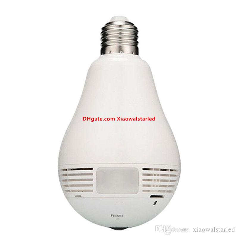 360 Degree Wifi IP Network Wireless HD Camera Monitoring bulb CCTV Security Camera Bulb EC Network Panoramic Camera