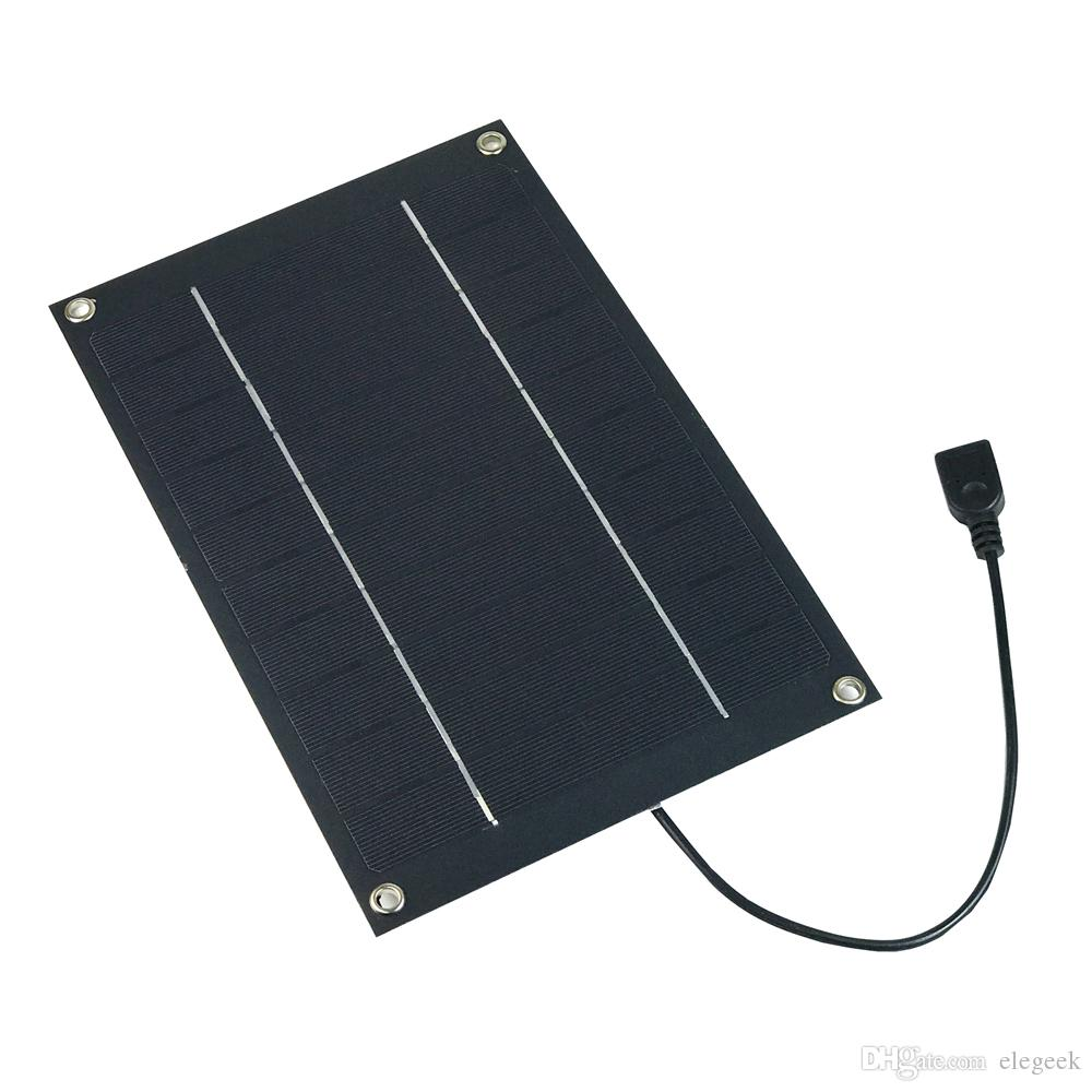 6W 5V Semi Flexible Solar Panel Monocrystalline Solar Cell with USB Output Regulator for Charging Smart Phone Power Bank