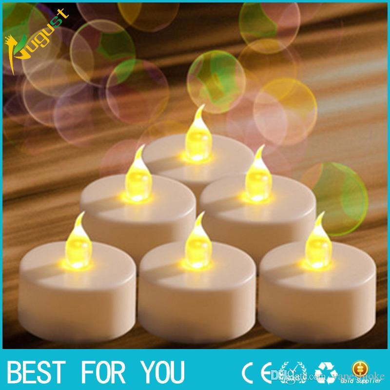 Led Candles Mood Lights For Festivals Led Flickering Tea Light Candles Flameless Battery Operated Look Like Real Flicker Candles For Weddi
