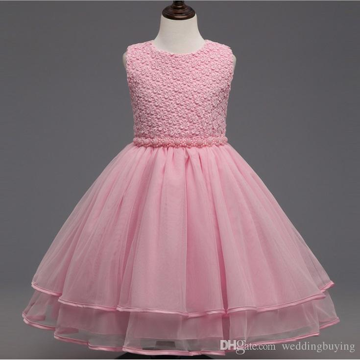 4ee871b169 Hot Selling Flower Girls Dresses Cuhk Children Princess Dress Rose Flower  Girl Dress Children Skirt With Good Quality Low Price Flower Girl Dress  Online ...