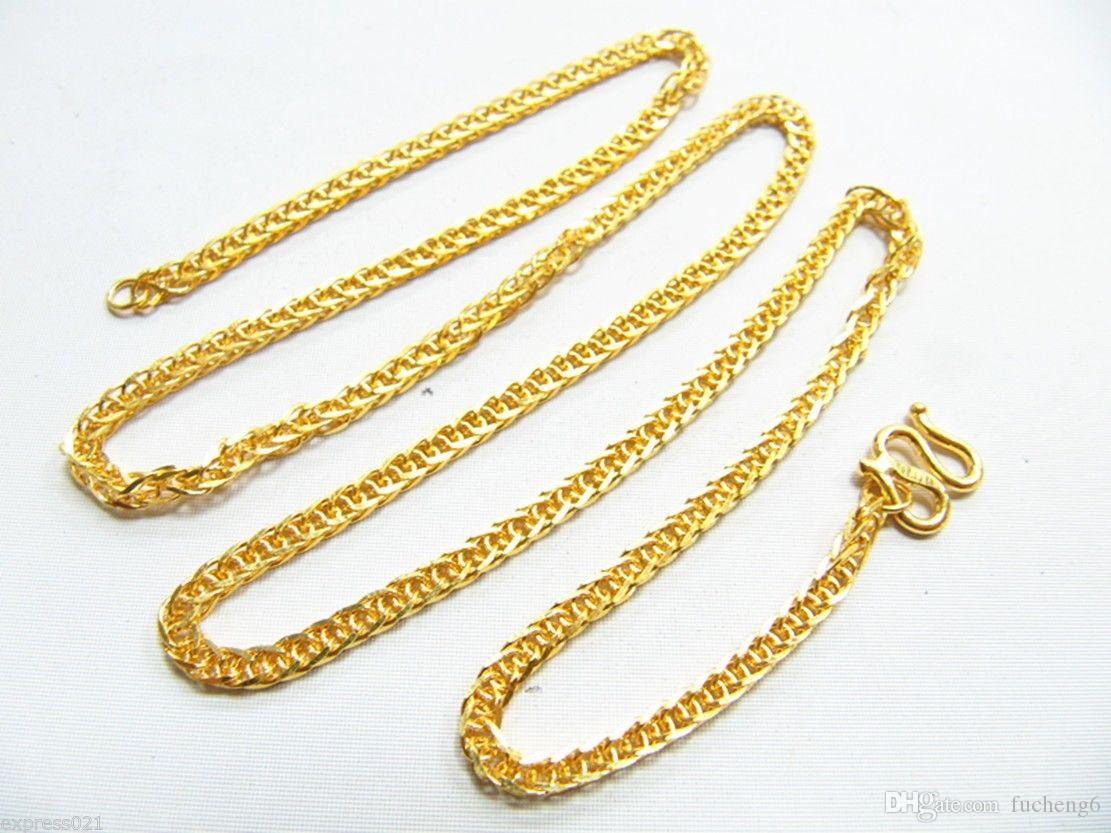 com solid jewelry chunky filled s chains real gold curb dp fashion necklace chain amazon yellow men