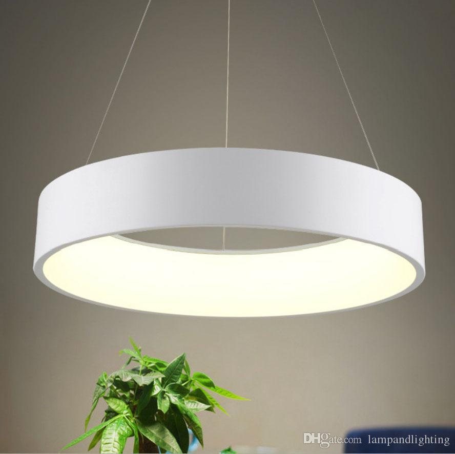 Modern Round Led Pendant Lamp D45cm D60cm Ceiling Lamp