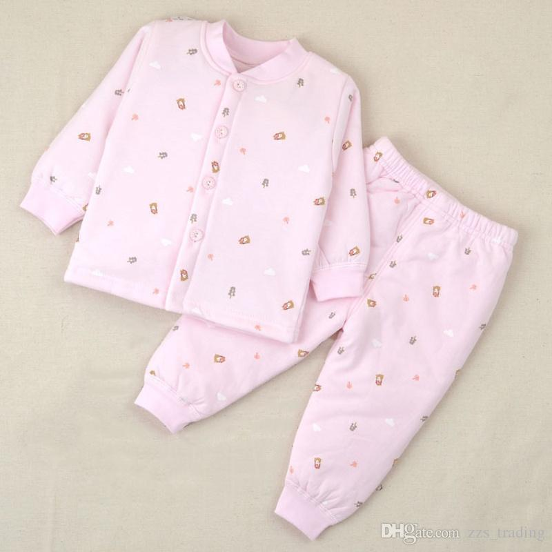 faa53f13c 2019 2017 Winter Baby Clothing Sets Long Sleeves Cartoon Thick ...
