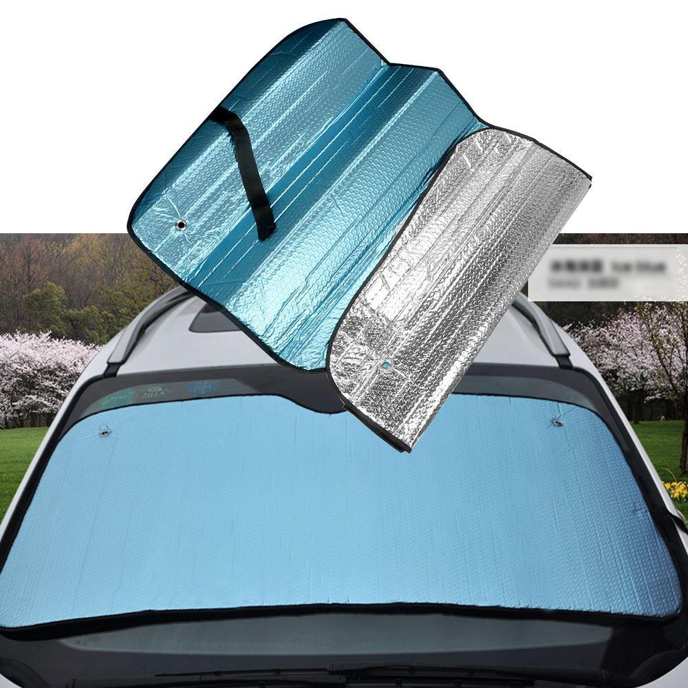 145*70CM Heat Block Car Windscreen Visor Cover Auto Front Window Sunshade Reflective UV Protect Window Foil Windshield Sun Shade