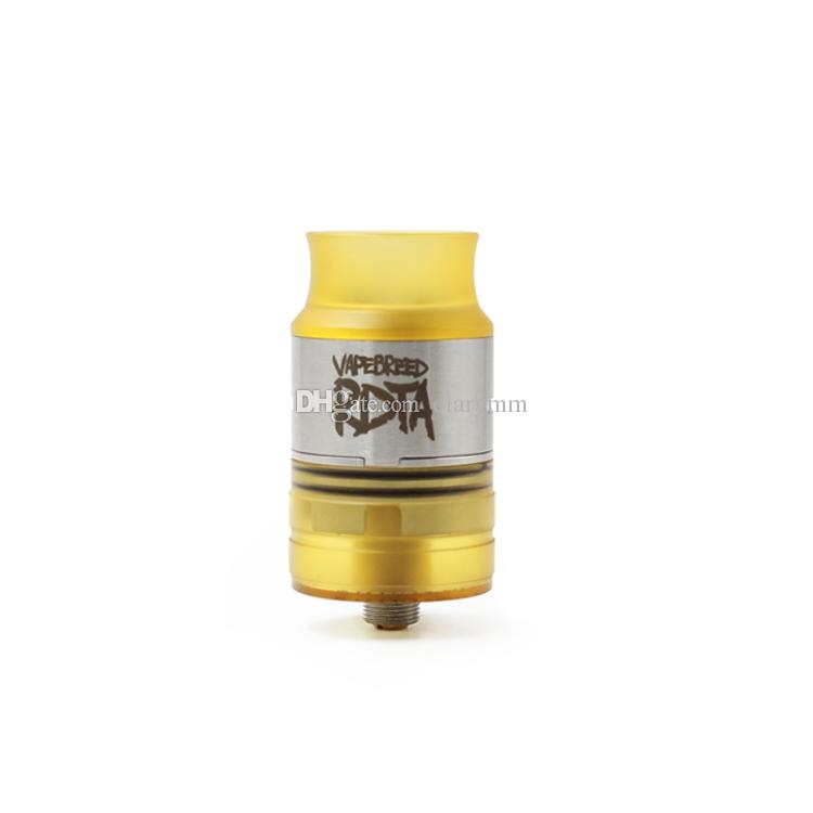 2017 Vapebreed Style RDTA Black SS Brass PEI Replaceable Atomizers clone with 24mm Diameter for 510 Thread Vape Mods High quality