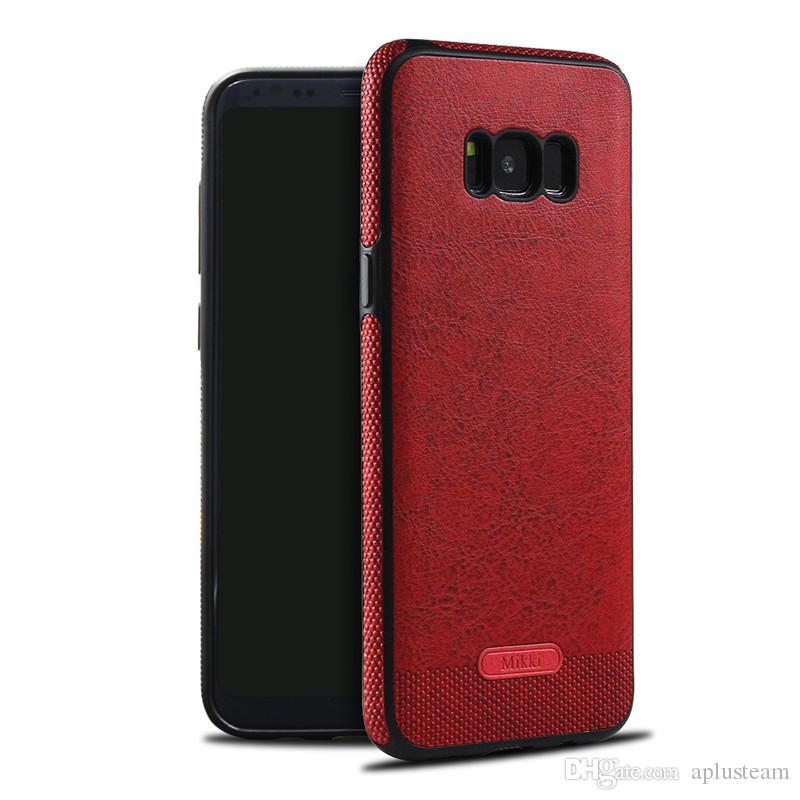 de97ce330f9 Fundas Moviles Chinos Nuevo Diseño De Nuevo Caso Para Samsung Galaxy S8  Plus S7 Borde S6 Puntadas De Cuero Del Teléfono Celular TPU Funda  Protectora A ...