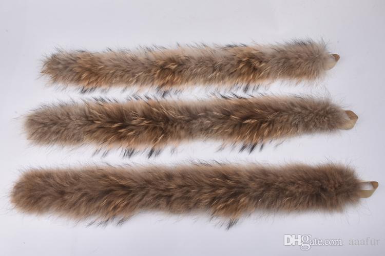 Vero collo di pelliccia 100% vera pelliccia di procione sciarpa 70 cm inverno le donne vendita calda