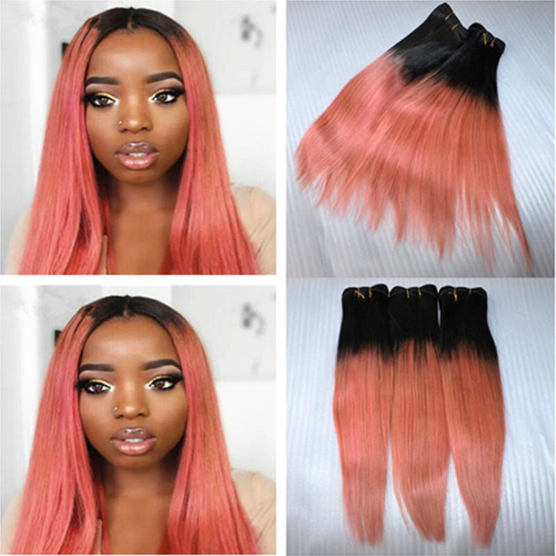 9a ombre hair extensions 1brose gold ombre brazilian virgin human 9a ombre hair extensions 1brose gold ombre brazilian virgin human hair 3 bundles two tone pink ombre silky straight remy hair weaves rose gold ombre hair pmusecretfo Choice Image