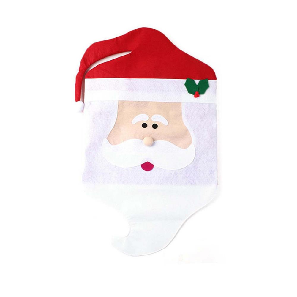Fashion Creative Mrs Santa Clause Red Hat Chair Back Set Cover ...