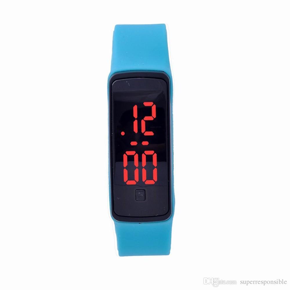 Orologio da polso sportivo sportivo da uomo con cinturino in silicone intelligente LED impermeabile unisex di alta qualità uomo donna