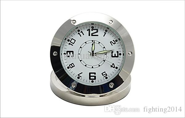 Clock DVR HD 1280*960 Motion Detection Foldable Round Table Clock Pinhole camera video recorder mini camcorder Home Security Camera